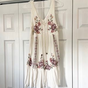 Xhilaration Target Boho Dress White Floral Flowy